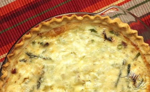Bacon Parmesan and Asparagus Quiche Recipe