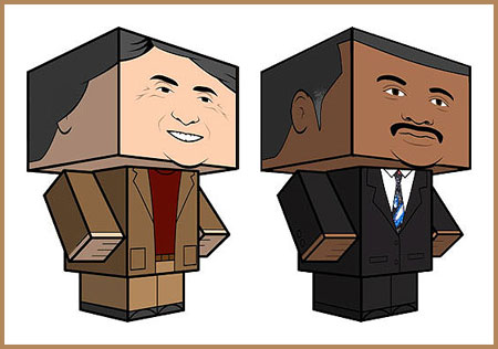 Neil deGrasse Tyson Carl Sagan Papercraft