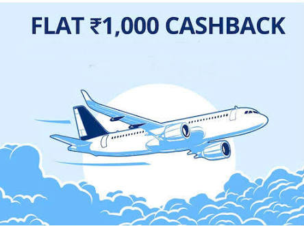 Paytm - Get Rs.1000 Cashback on Flight Ticket Booking Of Rs.2000 or Above