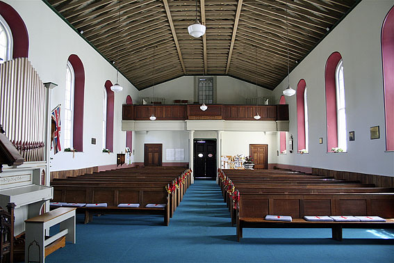 St Luke's Anglican Church, Richmond: church interior [photograph by Trevor Bunning (December 2008)]