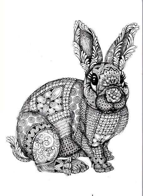 To Print This Free Coloring Page Coloringadultdifficultrabbit