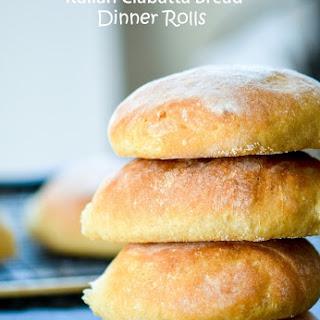 Italian Ciabatta Bread Rolls.
