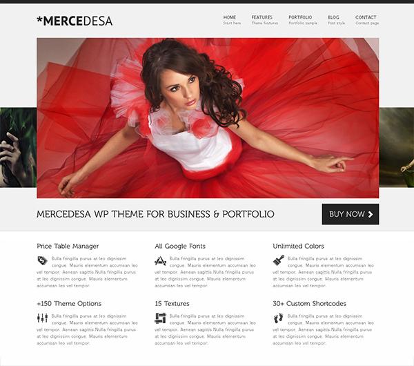 Mercedesa Flexible WordPress Theme