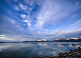 Photo: Waiting, still waiting... Lincoln Beach, UT. 2012.  Before we headed up to our lookout position to catch the sunset, the caravan of intrepid #jarviewalk photographers made a stop at Lincoln Beach.  I've gotten used to making sunset shots, and blue hour shots, because of their intense color, and uniqueness, they make interesting photos with less work, this one I had to think about more, and work more closely to get what I wanted.  #jarviewalk #utah #utahlake #lincolnbeach
