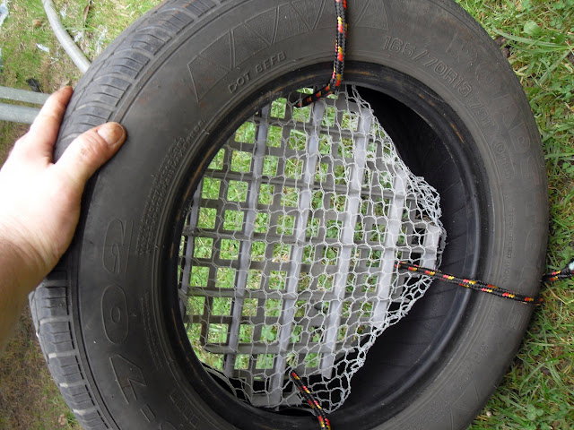 this car tire can be used for vermicasting