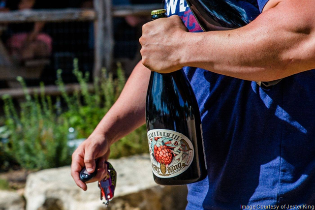 Jester King Announces 2018 Atrial Rubicite Magnum Bottle Lottery