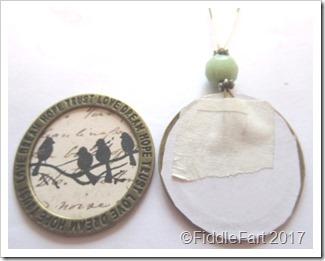 Tiny Framed Bird Tag Decoration q