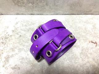 ウェイトリフティングリストバンド 紫