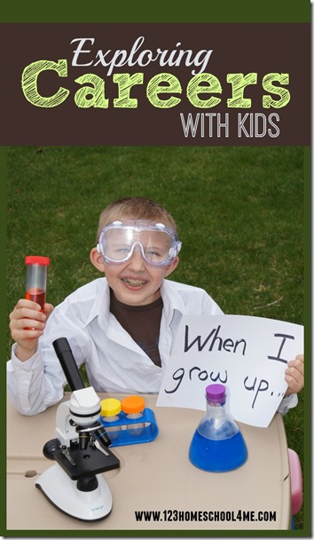 Exploring Careers with Kids  - What does your kids want to be when they grow up? Help them explore lots of different careers! Fun family game.