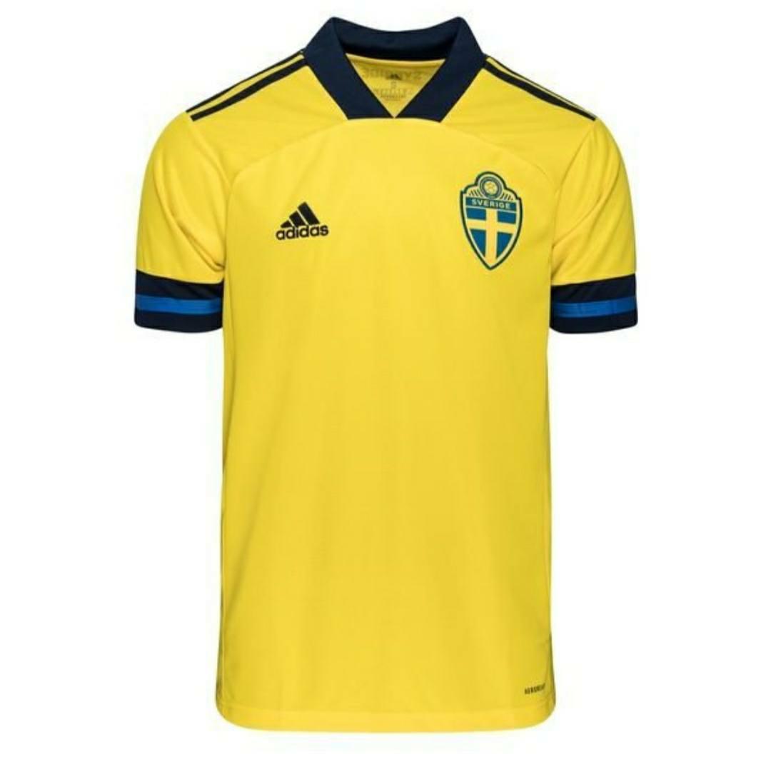 Jual Jersey Swedia Home Euro 2020