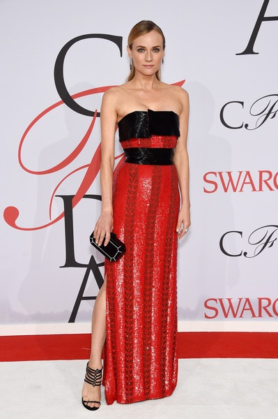 Diane Kruger attends the 2015 CFDA Fashion Awards