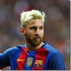 Lionel Messi Messy Blonde Hair With Beard