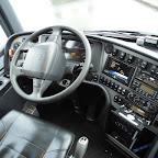 Het dashboard van de Volvo van AMZ Reizen bus 385