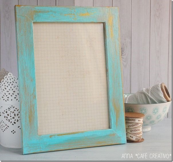 Shabby style decorare una cornice tutorial cafe creativo for Decorare stanza shabby chic