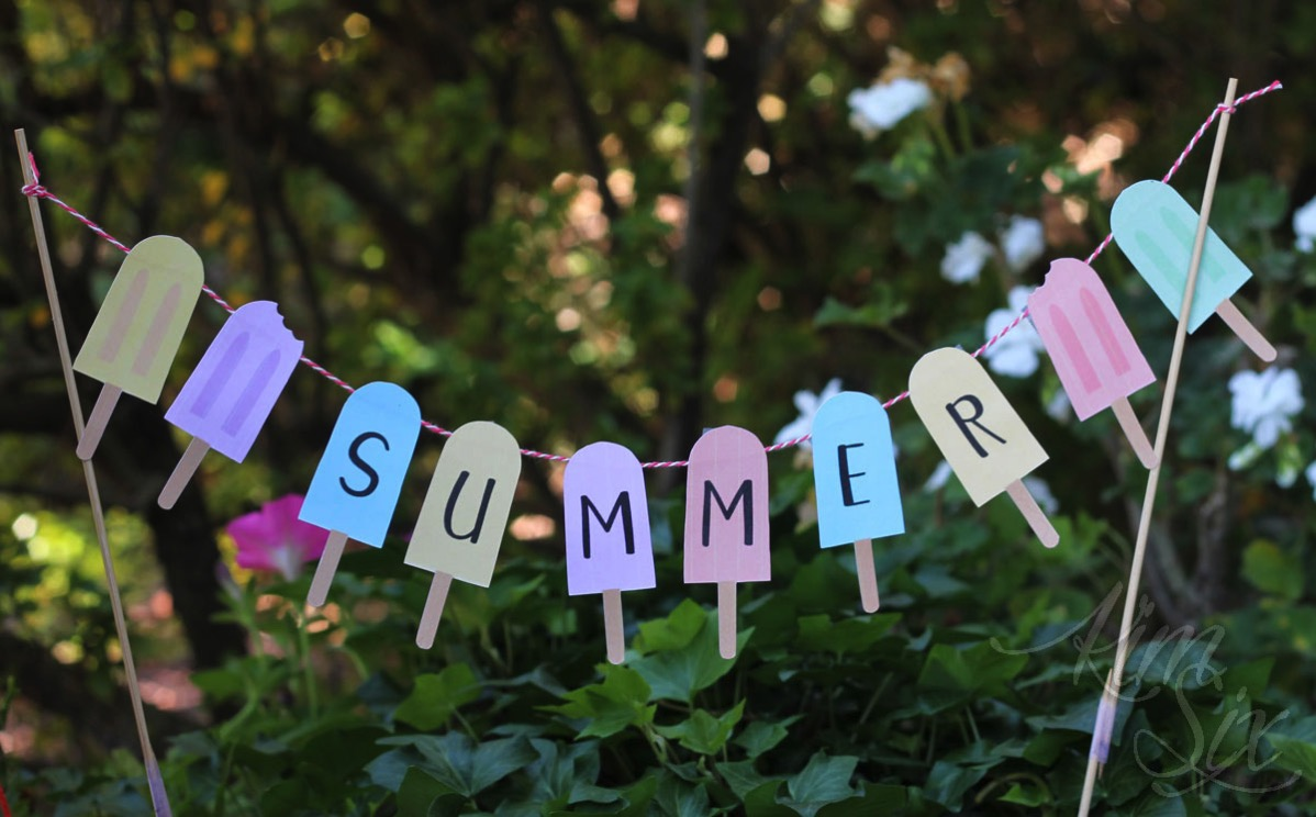 Personalized summer popsicle banner