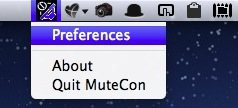 MuteCon for Mac OS