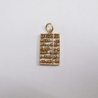 14K Gold Abacus Pendant