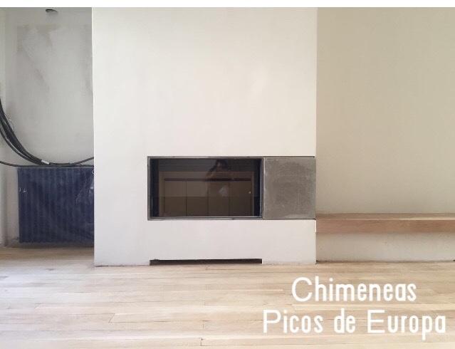 Chimeneas picos de europa chimenea moderna en piso de - Chimeneas para pisos ...