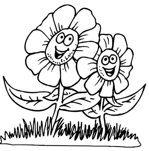 Flower Coloring Pages For Kids Archives Coloring Page With Big Flower  Coloring Pages Regarding
