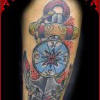 anchor tattoo compass