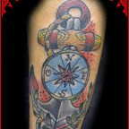 anchor tattoo compass