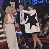 OIC - ENTSIMAGES.COM - Chloe Jasmine, Stevi Ritchie and Sherrie Hewson with Emma Willis at the Celebrity Big Brother Final held at the Elstree Studios in London on the 24th September 2015. Photo Mobis Photos/OIC 0203 174 1069