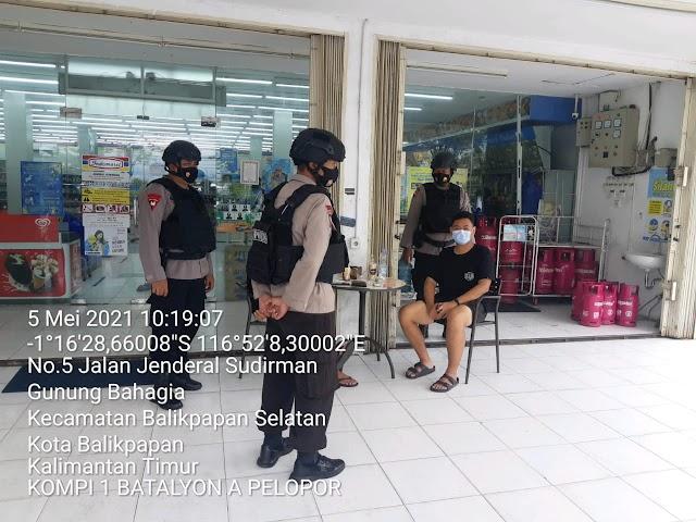 Lebaran Semakin Dekat, Brimob Yon A Pelopor Tingkatkan Frekwensi Patroli di Balikpapan