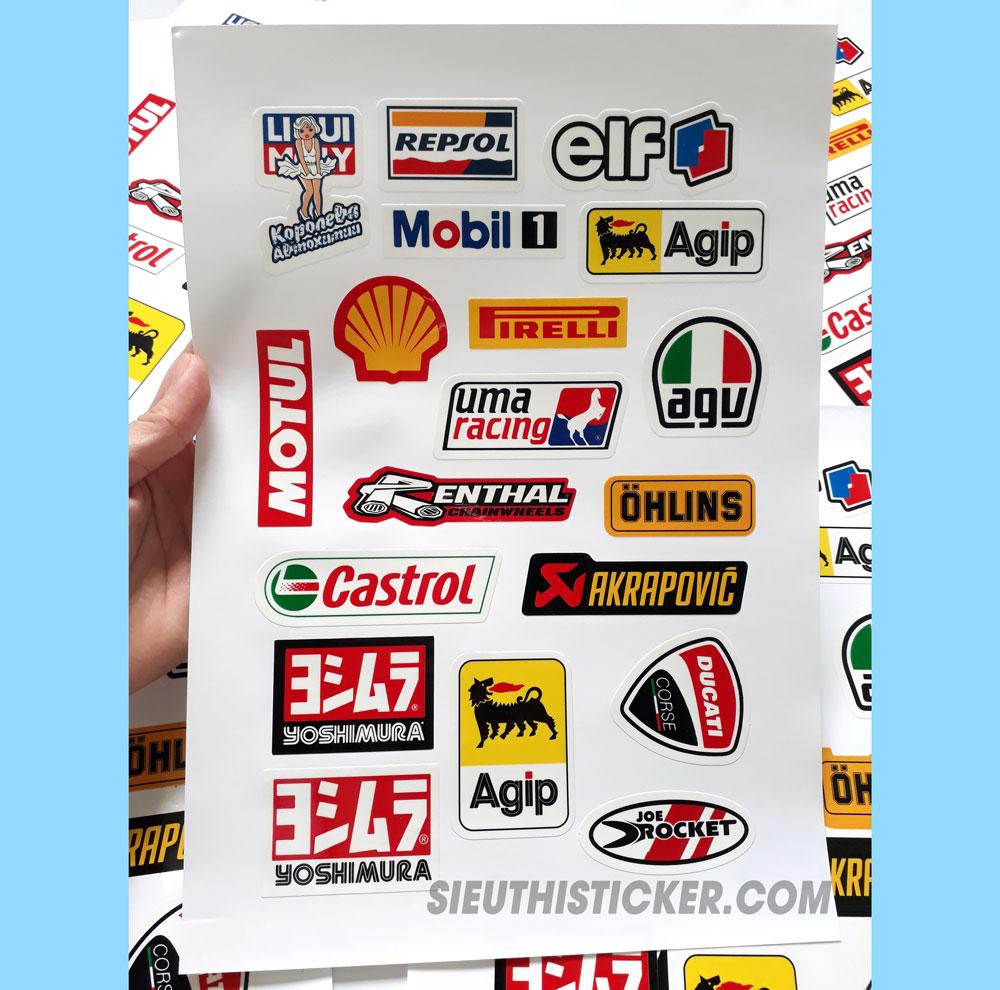 tem nhựa decal nhựa dán xe máy xe hơi trang trí
