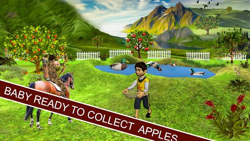 射箭 苹果 射手 3D孩子