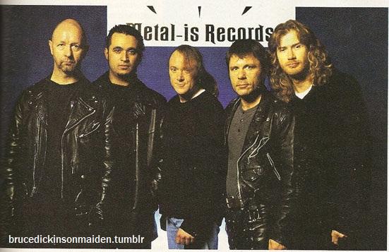 Bruce Dickinson with Rob Haldford-Roy Z-Kai Hansen-Dave Mustaine