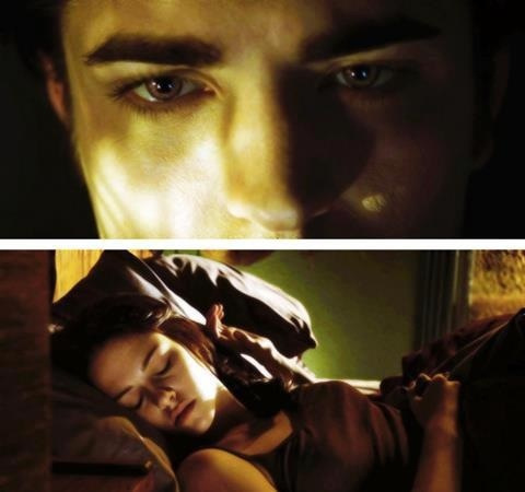 Bella sleeping scene