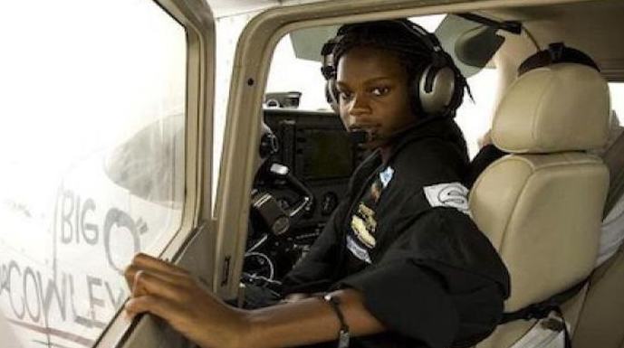 EXCITING!!! Igbo-girl who break record at 15 year old, became youngest black pilot to fly across US