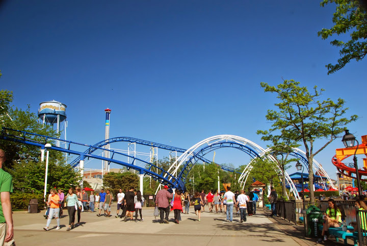 Roller coasters at Cedar Point. From The Complete Guide to Visiting Cedar Point