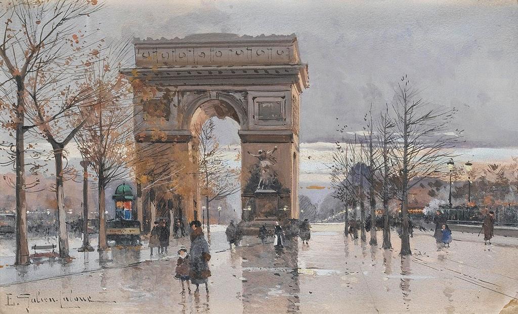 Eugène Galien-Laloue - Paris Arc de Triomphe