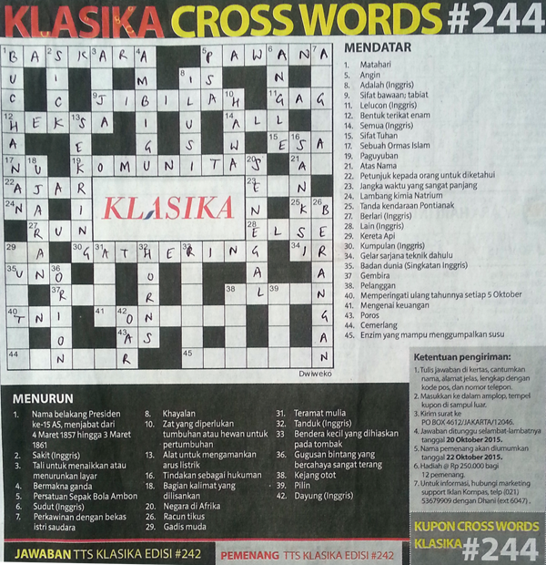 Klasika Crossword 244
