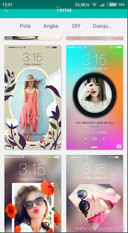 mempercantik lockcreen 7 android