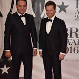 OIC - ENTSIMAGES.COM - Ant and Dec at the  The BRIT Awards 2016 (BRITs) in London 24th February 2016.  Raymond Weil's  Official Watch and  Timing Partner for the BRIT Awards. Photo Mobis Photos/OIC 0203 174 1069