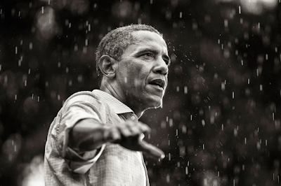 Brooks Kraft: President Barack Obama campaigns in the rain, Glen Allen, Virginia, 2012