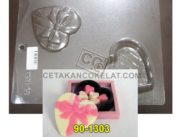 Cetakan Coklat 90-1303 cokelat tray pour box love