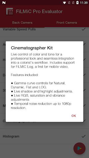FiLMiC Pro Evaluator 2.15.1 screenshots 3