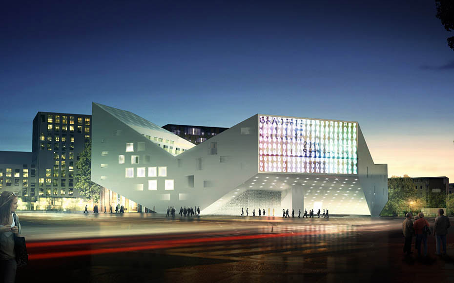 New Youth Center in Lille, France design by JDS / Julien De Smedt Architects