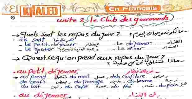 فى ورقة واحد كل جرامر الوحدة الثانية لغة فرنسية للثالث الثانوى للمراجعة النهائية