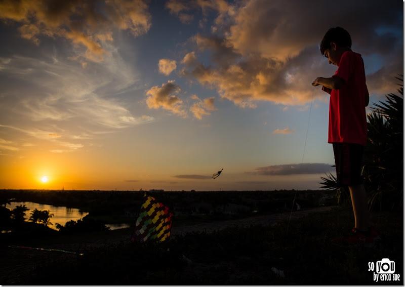 Kite Sunset silhouette-8617