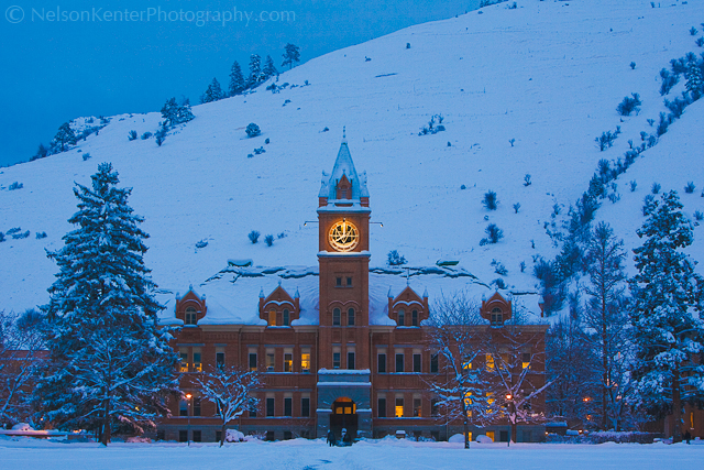 Main Hall in Winter. Photo by ©Nelson Kenter. All Rights Reserved. Prints available at www.kenterphotography.com
