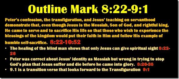 Mark 8.23-9.1 outline
