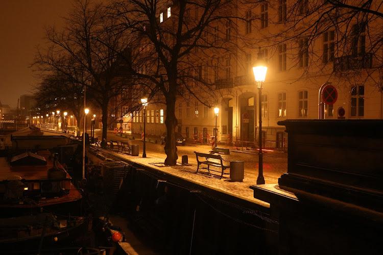 Street in the night, Copenhagen