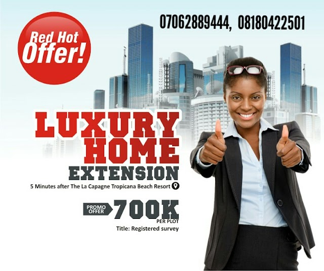 LUXURY HOMES 1 EXTENSION, IBEJU LEKKI, LAGOS(LAND FOR SALE)