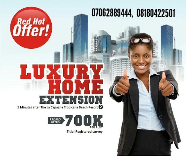 LUXURY HOMES 1 EXTENSION, IBEJU LEKKI, LAGOS(LAND FOR SALE)