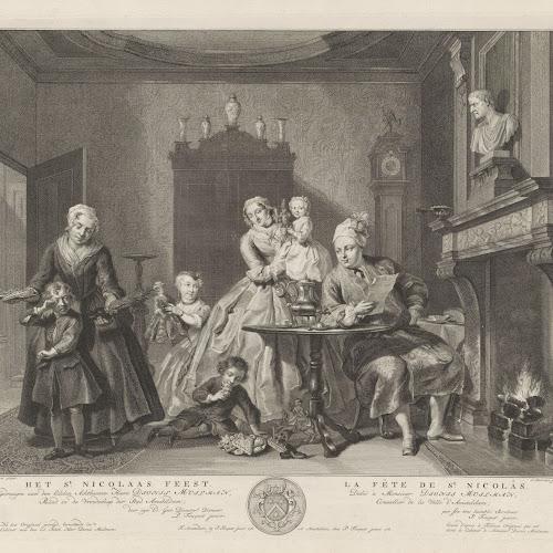 Sint Nicolaasfeest Rijksmuseum.Sint Nicolaasfeest Jacob Houbraken After Cornelis Troost