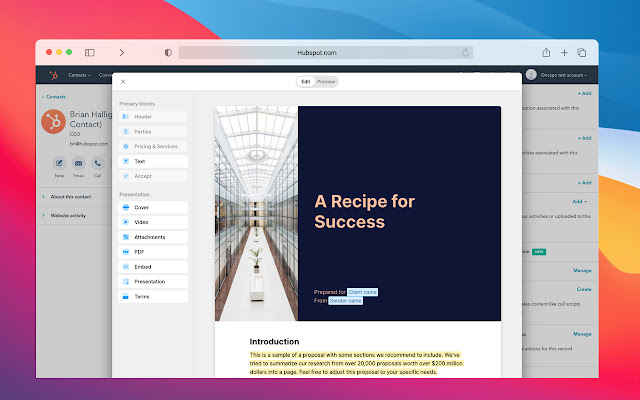 Hubspot documents by Docspo